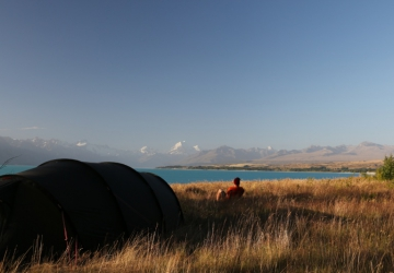 Free camping at lake Pukaki