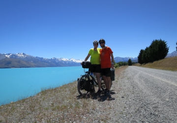 Lake Pukaki and us