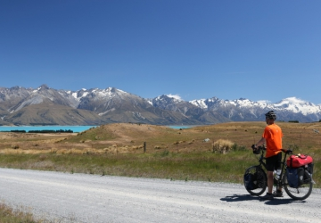 Approaching lake Pukaki